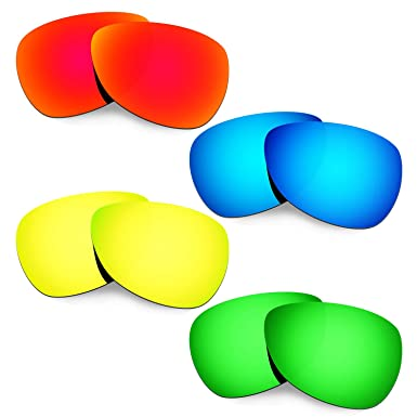 a9448c15ec Hkuco Mens Replacement Lenses For Oakley Felon Red Blue 24K Gold Emerald  Green
