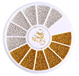 1 Sets 3D Gold Silver Metal Caviar Beads Glitter Nail Art Rhinestones Wheel Decorations DIY Manicure Nails Tools Tips Kits Satisfaction Popular Xmas Christmas Winter Snow Holidays Tool Kit