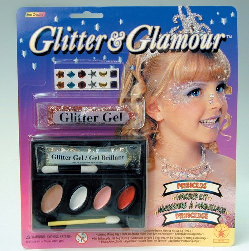 Glamour Costumes For Kids (Rubies Costumes Glitter and Glamour Princess Make-Up Kit)