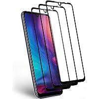 Pufee Protector de Pantalla para Xiaomi Redmi Note 7, [3 Piezas] Cristal Templado Xiaomi Redmi Note 7, Cobertura Completa, Tecnología 3D, Sin Burbujas [9H Dureza] [Anti-Arañazos]