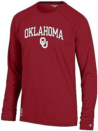 be8af7d9e Oklahoma Sooners Crimson Vapor Dry Champion Powertrain Long Sleeve Tee Shirt  (S=36)