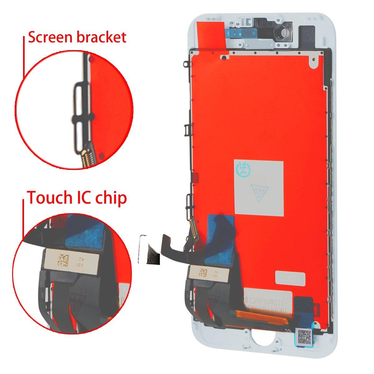 BBSELL LCD Pantalla Táctil Reemplazo De Marco Digital Un Conjunto Completo De Herramientas y Montaje Pantalla De Vidrio Protector Para IPhone 7 4.7 ...
