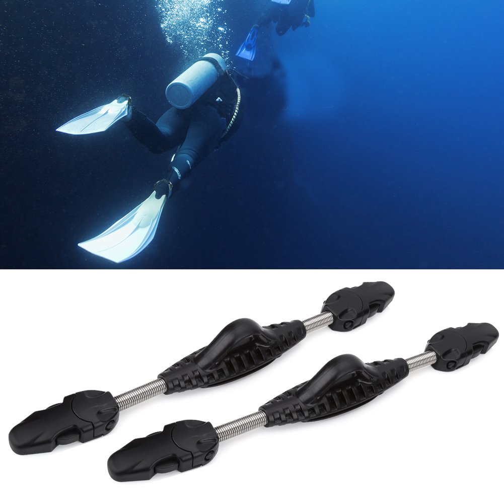 Quick Release Stainless Steel Spring Fin Strap for Scuba Dive Diving Swimming Snorkeling Sailing Alomejor 1 Pair Flipper Straps