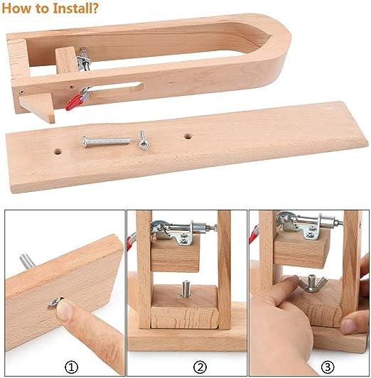 Semoic Il Mestiere Del Cuoio Di Legno Leathercraft Mano Stitching Pony Allacciatura Sewing Table Strumento Desktop Diy