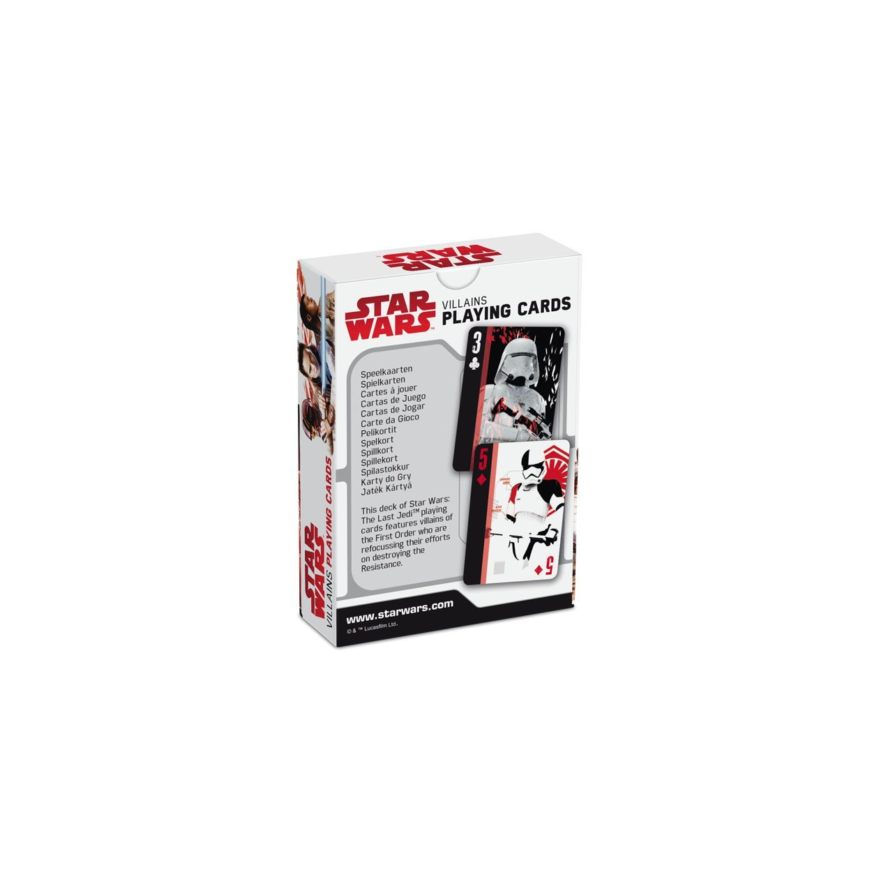 Amazon.com: Star Wars : The Last Jedi Villains Playing Card ...