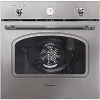 Candy FCC604X/E Horno vintage multifunción, 65l, reloj analógico, puerta doble cristal, ventilador…