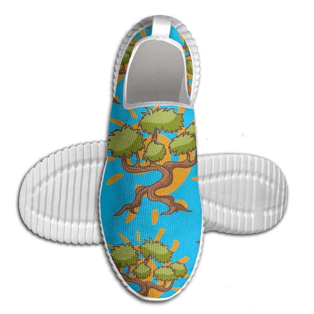 Bonsai Tree Cartoon Men's Anti-Slip Sneaker Lightweight Tennis Loafers