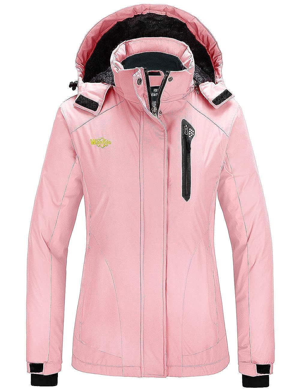 Wantdo Womens Waterproof Ski Jacket Mountain Snow Coats Hooded Windproof Parka