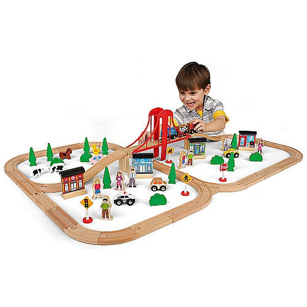 Universe Of Imagination Express Mega Train World Wooden 80 Piece Set ...