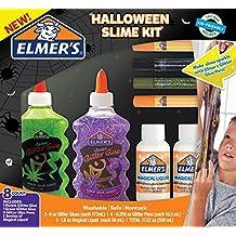 Elmer's 2024016 Elmer's Halloween Slime Kit, Glitter Glue, Glitter Pens & Magical Liquid Activator Solution, 8 Count