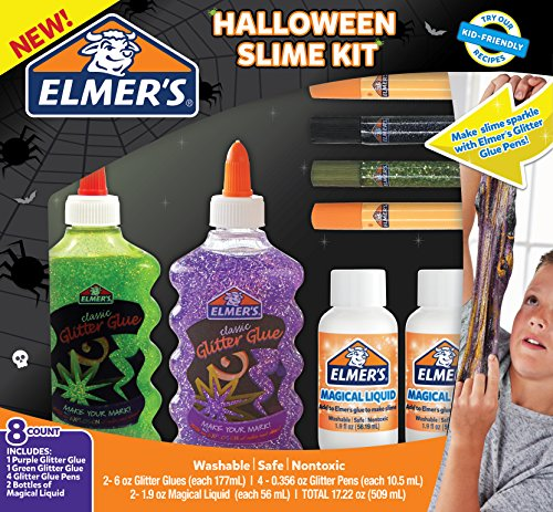 Elmer's Halloween Slime Kit Washable School Glue]()
