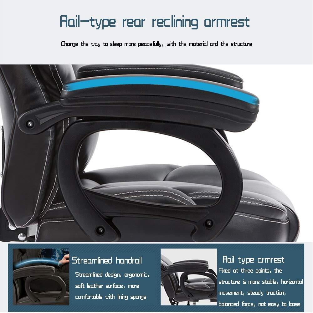 JIEER-C stol vilande massage dator spelstol, ergonomisk högrygg kontor dator stol justerbar höjd, vit Brun