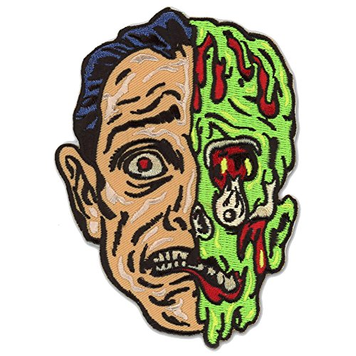 Melted Man Zombie Monster Patch Embroidered Iron On Applique (Monster High Iron On)