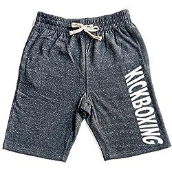 Men's Kickboxing V440 Graphic Snow Fleece Jogger Sweatpant Gym Shorts Small Black