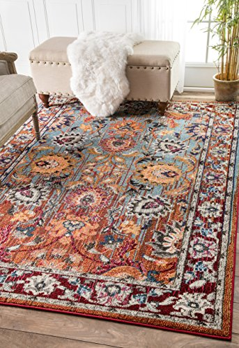 Traditional Vintage Floral Rugs Inches