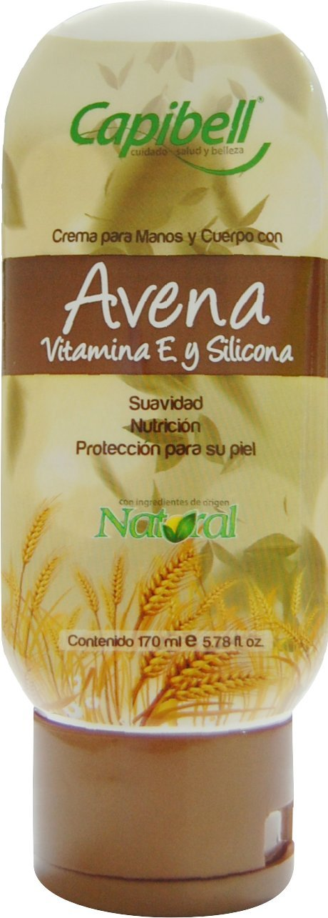 Amazon.com : Oat Body Cream/Avena Crema Para Manos Y Cuerpo Vit. E & Silicona. Humectante manos y cuerpo 170ml / 5.6oz : Beauty