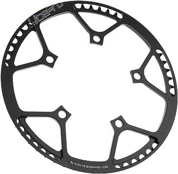 IPOTCH Plato de Bicicletas Plegables Protección de Rodilla, Repuesto de Estrellas de Ciclismo - Negro 58T: Amazon.es: Deportes y aire libre