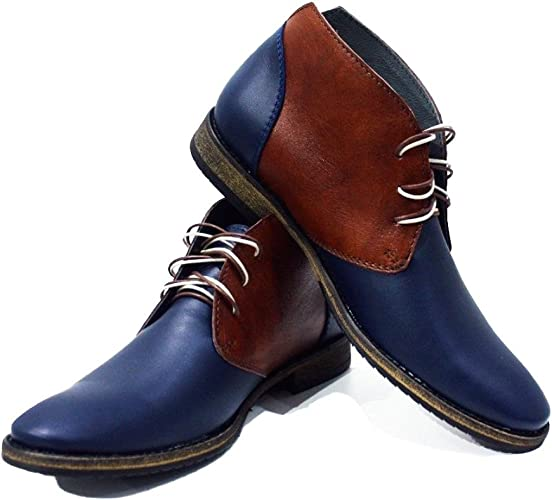 Stacy Adams Men/'s Navy Madison Suede Two Tone Textured Cap Toe Boot