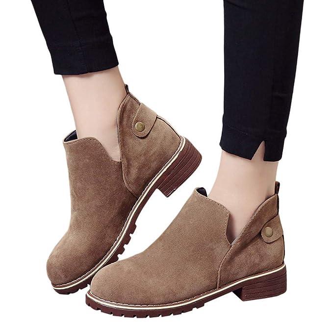 MYMYG Botas de Mujer Flat Botas para Mujer de Gamuza con Cremallera Borla Botines Zapatos Casuales Black Friday Boots Botines Zapatillas Plataforma: ...