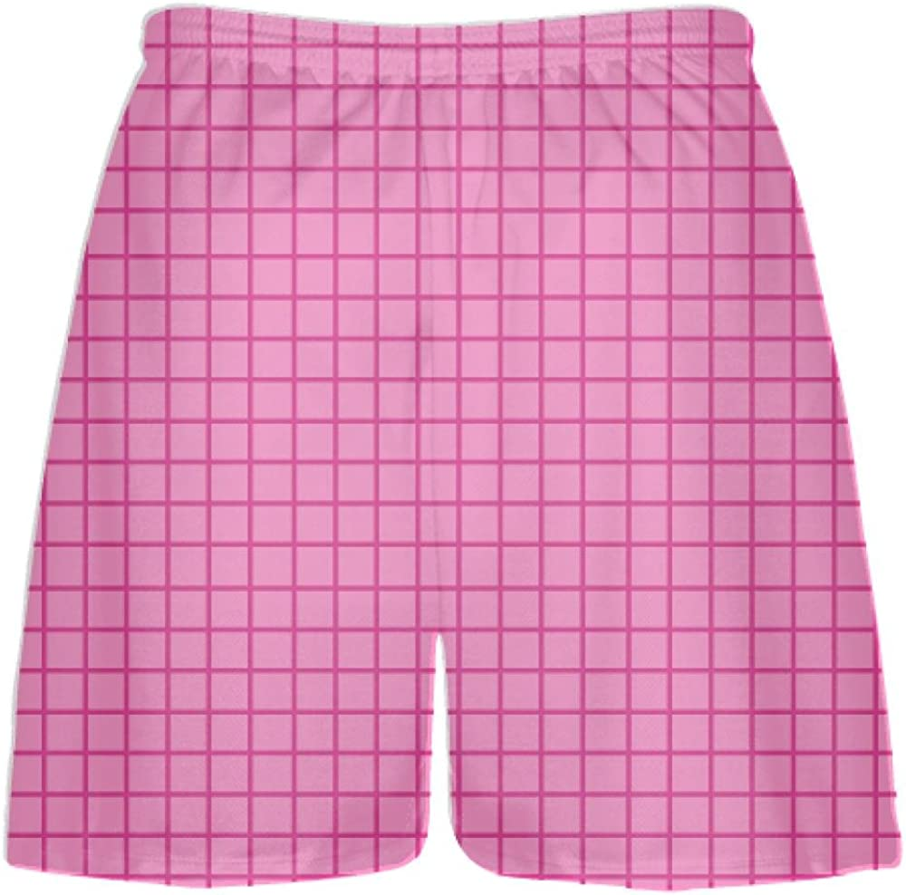 Youth Hot Pink White Lax Shorts Boys Mens Lacrosse Shorts Youth Pink