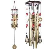 BWINKA chinesische traditionelle Erstaunlich 4 Röhren 5 Glocken Bronze Yard Garten Outdoor Living Wind Chimes 60cm