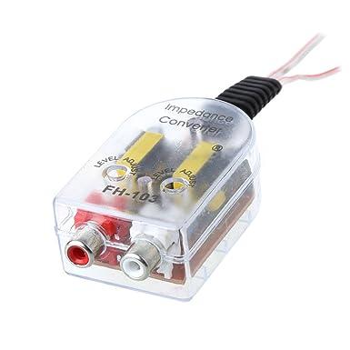 Autoparts 12 V RCA clavija Radio de coche conversor de audio amplificador de altavoz de alta