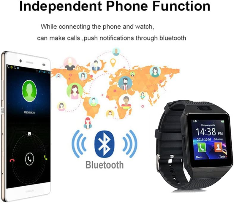 Amazon.com: Reloj inteligente dz09 con cámara, Bluetooth ...