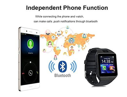 Amazon.com: Smart Watch dz09 With Camera Bluetooth WristWatch SIM Card Smartwatch For Ios Android Phones Support Multi languages (black): Cell Phones & ...