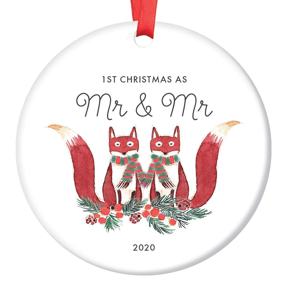 Woodlands Christmas 2020 Amazon.com: Gay Marriage Ornament 2020 First 1st Christmas as Mr