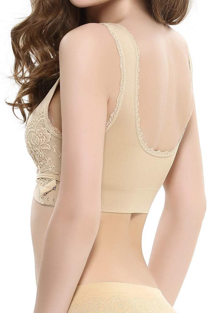 ZHENBAO Women/'s Lace Sports Bra Criss Cross Lace Coverage Seamless Sleep Bra Comfort Bralette