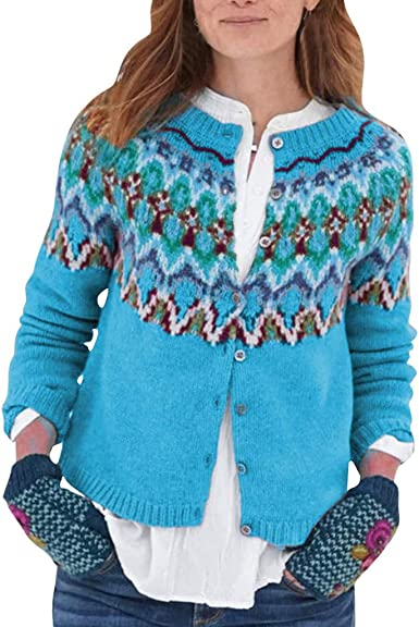 FieerMen Ethnic Thicken Relaxed-Fit Hood Cardigans Pullover