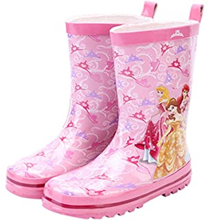 Princess and The Frog Tiana Wellington Boots Snow Rain Winter Wellies Size