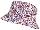 Tropic Hats Paisley Design Print Soft Floppy Bucket Cap (One Size) - Pink/Yellow/Red