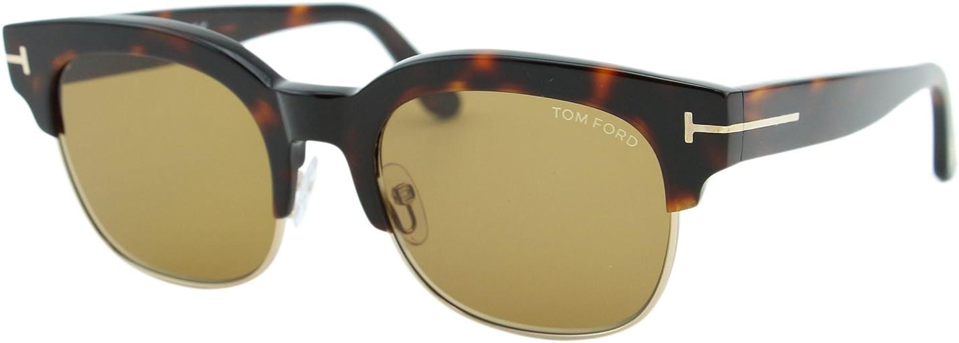 31db9df703 2018 Tom Ford Harry-02 FT0597 56E Men Tortoise Gold T Clubmaster Square  Sunglasses