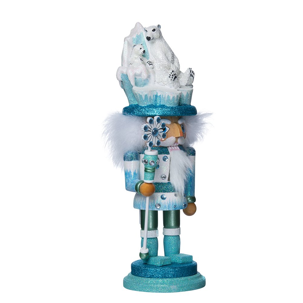 Kurt Adler Hollywood Polar Bear Nutcracker, 15-Inch