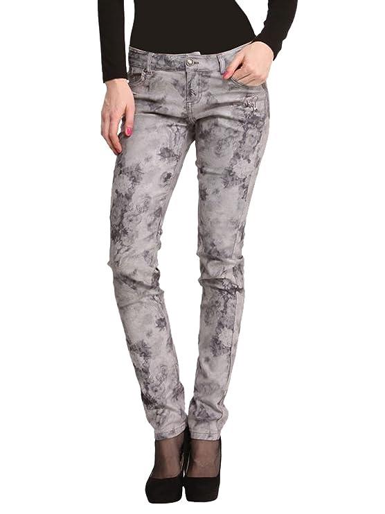 DESIGUAL Mujer Diseñador Top Jeans Pantalones - ALGINA ...