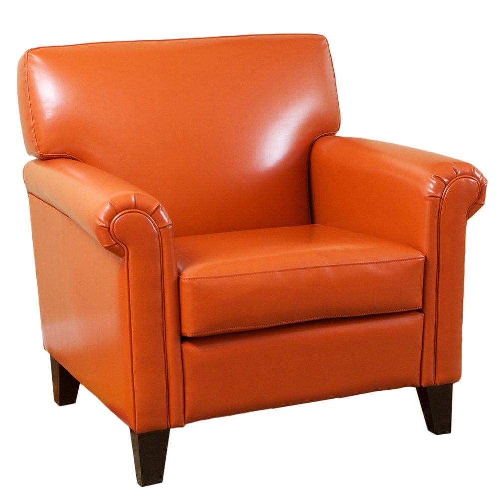 amazoncom best selling classic leather club chair burnt orange kitchen dining. amazoncom best selling classic leather club chair burnt orange