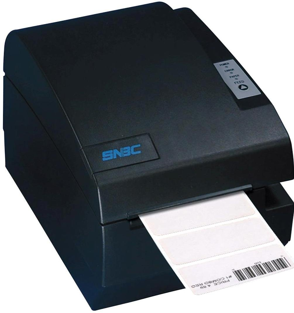 SNBC 132078 Model BTP-L580-II Compact High Speed Direct Thermal Label Printer with USB+Parallel Interface, Black, Fast 150mm per Second Print Speed, 203 DPI Resolution, Paper-End Sensor