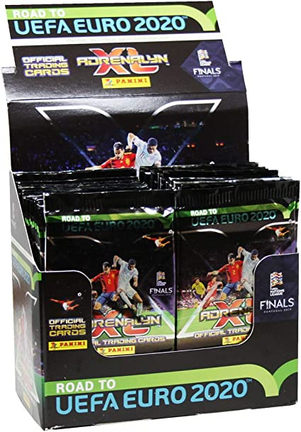 Panini 097511 Trading Cards Road to Euro 2020, Display with 50 Boosters, Multi-Coloured