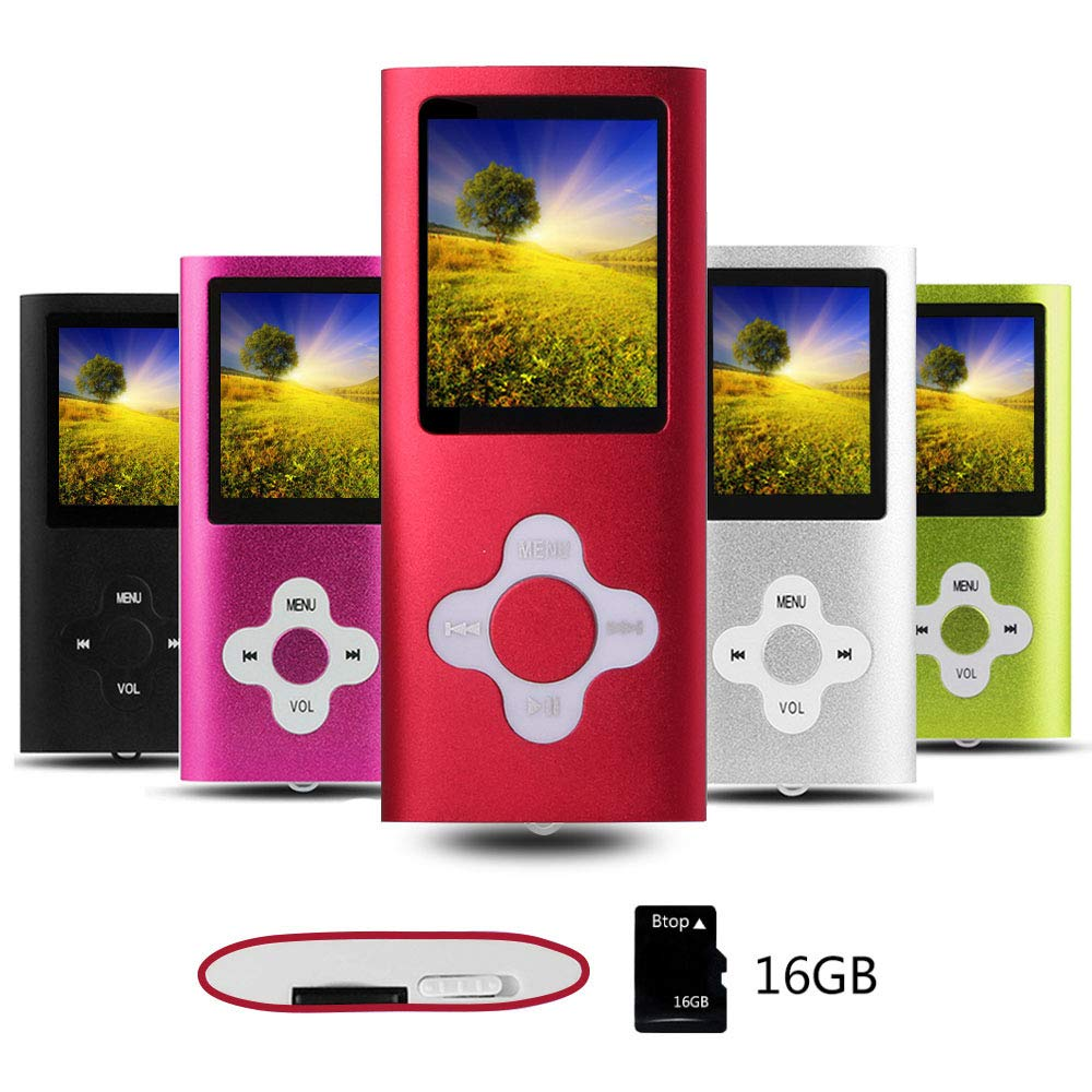 orange tree MP4 Music Player//Video Player Btopllc MP3 Player MP4 Player Digital Music Player 16GB Internal Memory Card Portable and Compact MP3