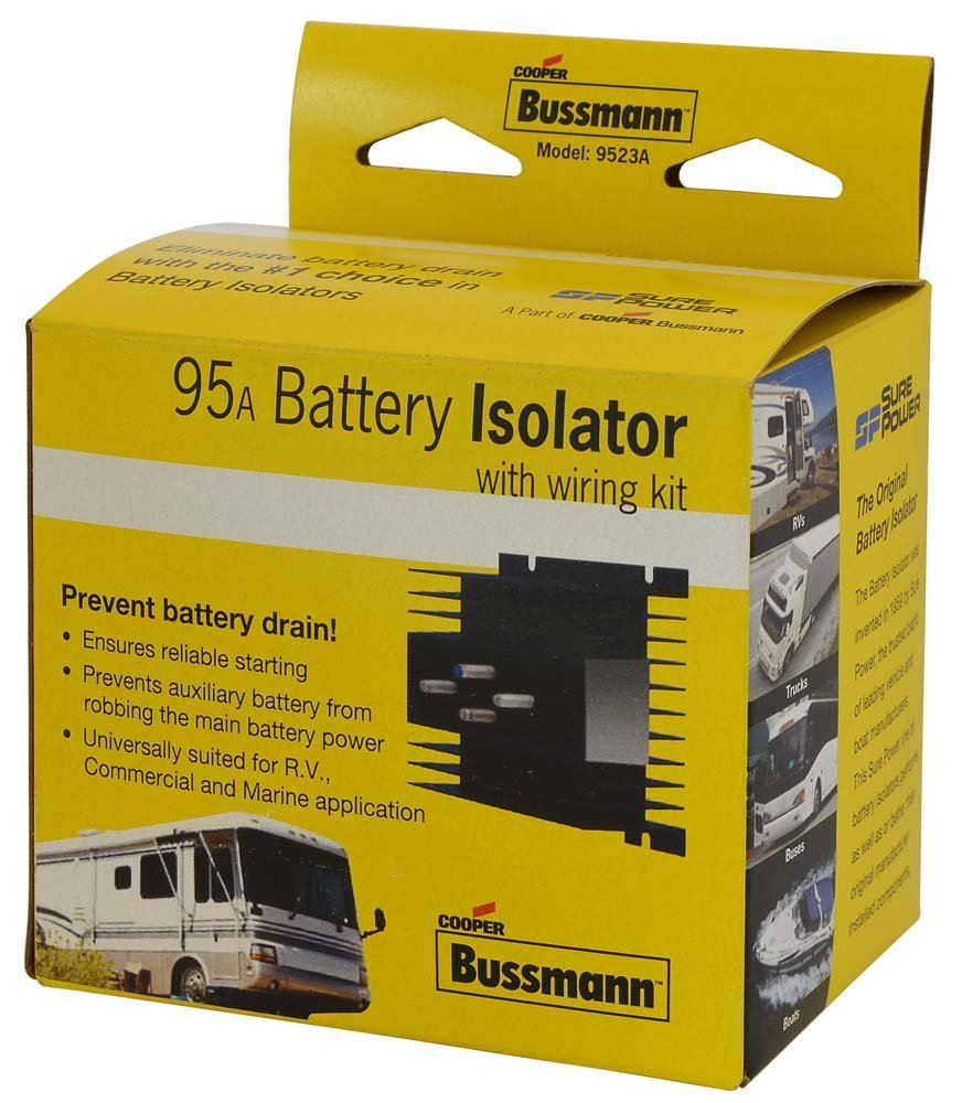 BUSSMANN RB-BI-95A - 95 AMP Battery Isolator- hex nuts and lock washers (Pack of 1) by Cooper Bussmann (Image #1)