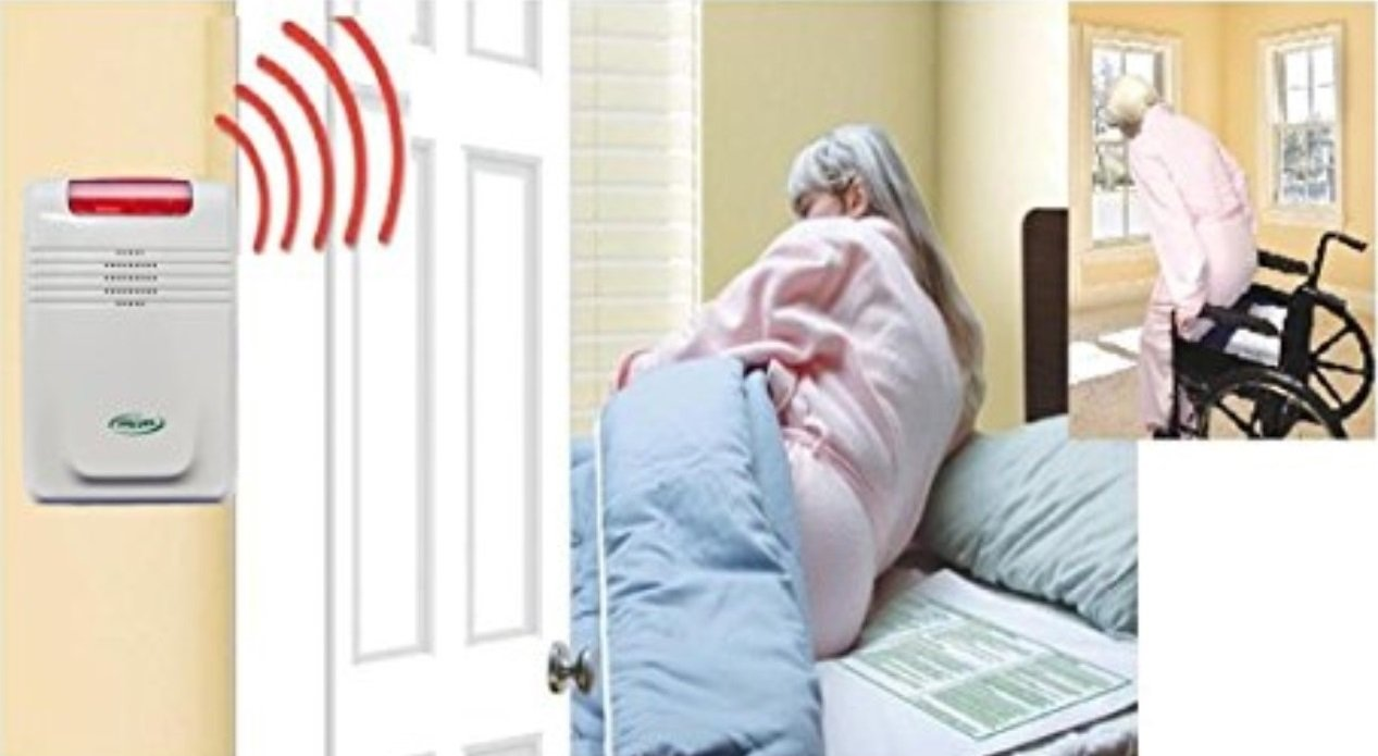 Wireless Bed exit Alarm with Long Term Bed and Chair Pads and Pager (no Alarm in patient's Room)