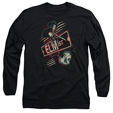da393c607c3 Nightmare On Elm Street - Mens Elm St Long Sleeve T-Shirt  Amazon.co.uk   Clothing