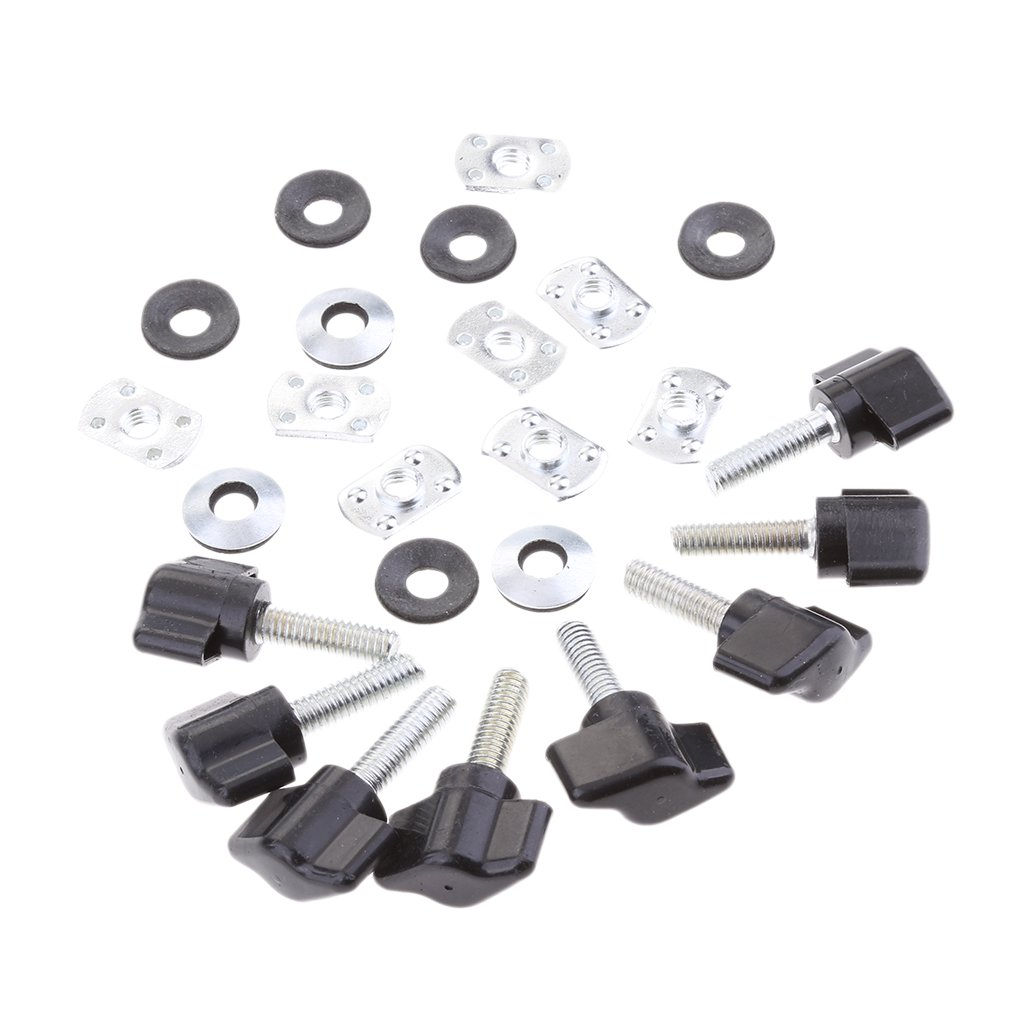 MagiDeal 8 Sets Quick Remove Hard Top Fasteners Nuts Bolts Kits Fit for Jeep Wrangler YJ TJ JK