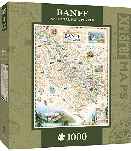 (MasterPieces Xplorer Banff Canada Map 1000 Piece Jigsaw Puzzle)
