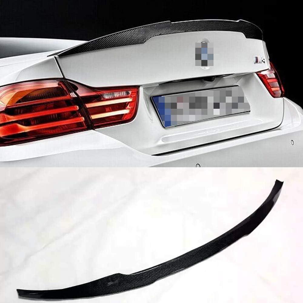 Auto Zubeh/ör Kofferraum Spoiler Wing Boot Deckel Lippen Body Kits Auto Carbon Fiber Heckspoiler Boot Spoiler f/ür BMW F82 M4 2014-2015 Schwarz