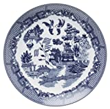 HIC Harold Import Co. YK-319 Blue Willow Buffet Plate, Fine White Porcelain, 12.25-Inches