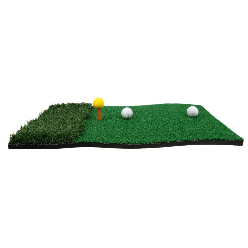 MagiDealホーム裏庭ゴルフマットゴルフトレーニング打撃パッドゴルフ練習マットグリーン70 x 40 cm   B076H67CLM