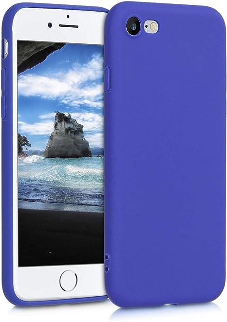 Image ofkwmobile Funda Compatible con Apple iPhone 7/8 / SE (2020) - Carcasa de TPU Silicona - Protector Trasero en Azul Real