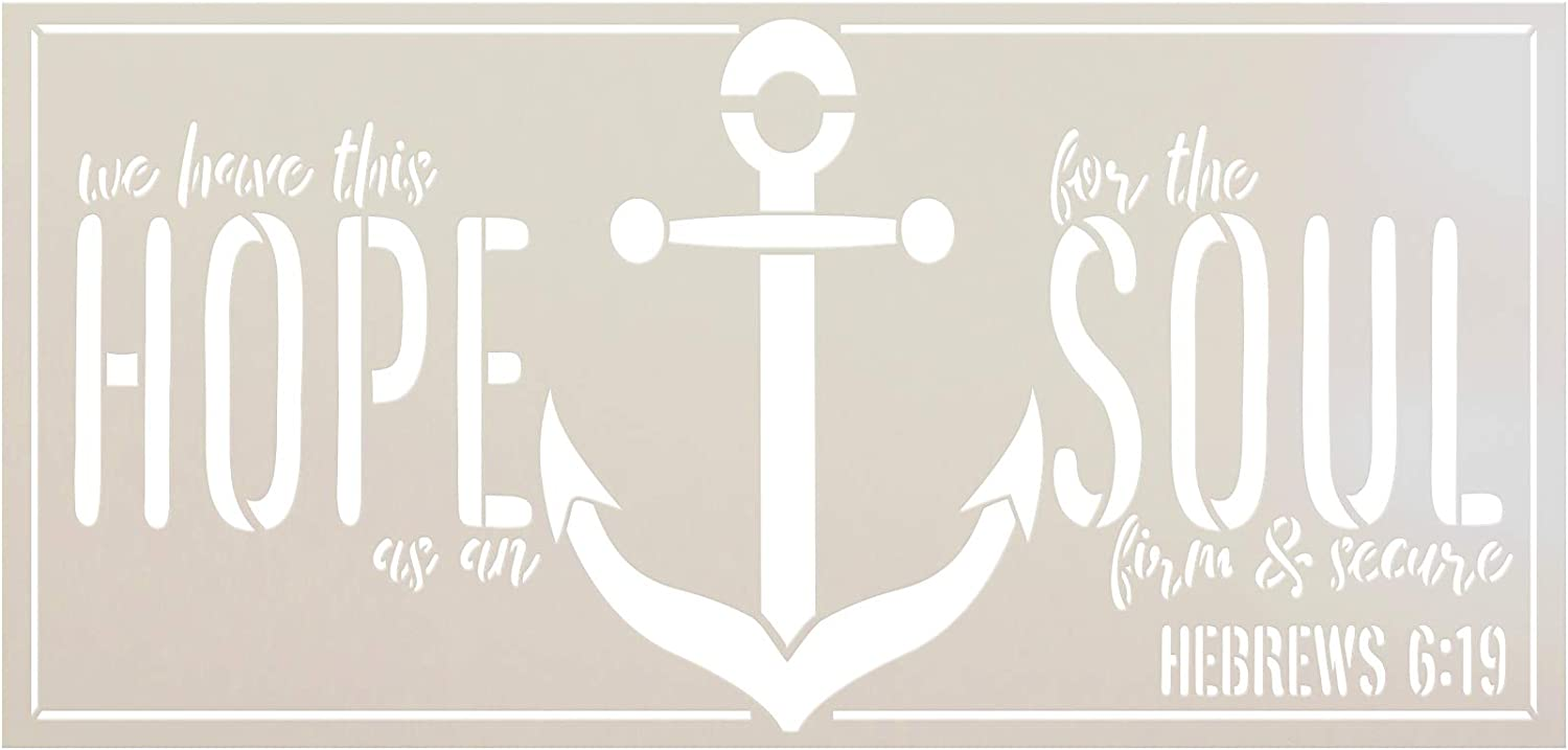 """Hope Anchors The Soul Stencil by StudioR12 